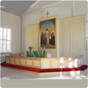 The altar in Sievi Church