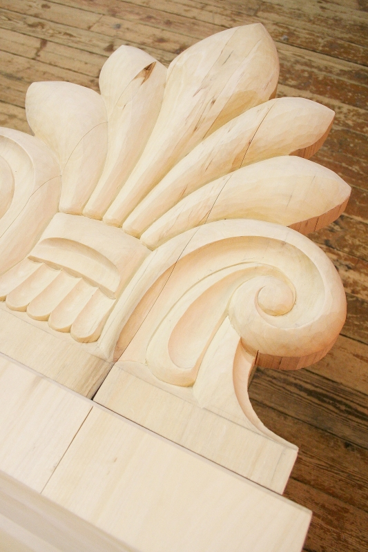 Decorative roof element for Oulu Cathedral's Chapter House