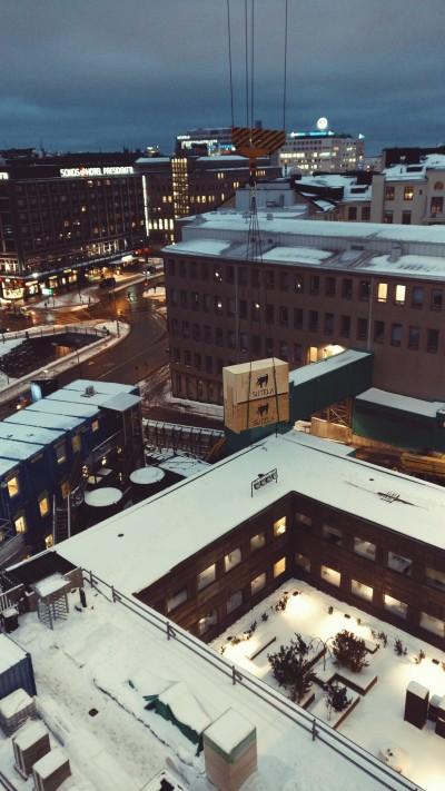 Ovia Helsingin yllä
