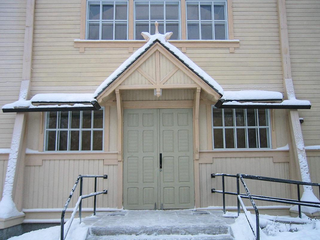 Pyhännän kirkon ulko-ovi